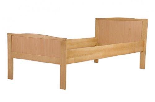 Erst-Holz® Seniorenbett Buche Natur extra hoch 100x200 Massivholz-Bettgestell ohne Zubehör 60.70-10 oR