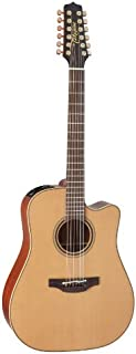 Best Takamine Pro Series 3 P3DC-12 Dreadnought Body 12-String Acoustic Electric Guitar with Case, Natural Review