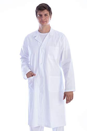 Gima - Weisser Arztmantel aus Baumwolle und Polyester, mit Knöpfen, für Herren, Größe XL, für Ärzte und Medizin-/Biologiestudenten, für Kliniken, Krankenhäuser, Arztpraxen und Apotheken.