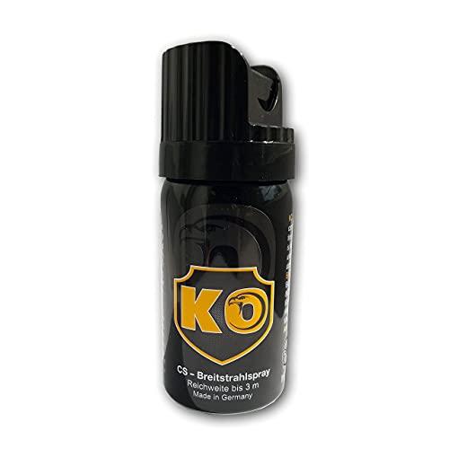 KO - Pfefferspray, Made in Germany, KO-Spray zur Tierabwehr, Selbstverteidigung, 40 ml Breitstrahl Verteidigungsspray