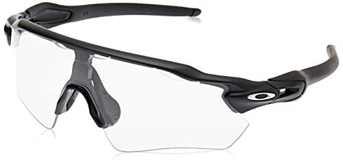 Oakley Men's OO9208 Radar EV Path Rectangular Sunglasses, Matte Black/Clear, 38 mm