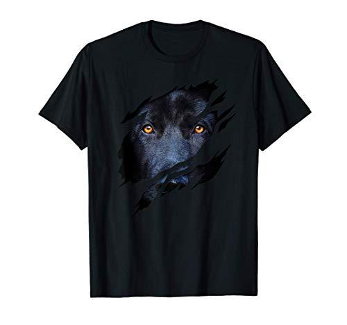 Perro labrador con efecto desgarro Camiseta