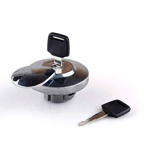 Tapa de aceite de moto, Tapa de combustible, Tapa de gasolina de motocicleta, Tapa de la tapa del tanque de combustible de gas con llaves Compatible Compatible para H-O-N-D-A VTX 1300 Rebel MAGNA Sh