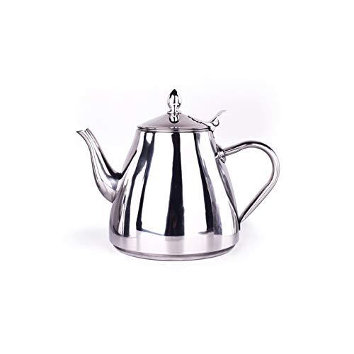 DISS Potes de café de acero inoxidable 1.2L / 1.5L, con hervidor de café de tetera de colador, cocina para el hogar, herramienta de té de café, café y té. (Color : 1.5L)