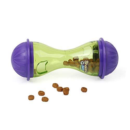 Art bag Gatos Perro Puede Enchufar Bocadillos Masticables Juguete Pelota de Goma con Fugas Dientes limpios Mordedura de molares Juguetes Verde