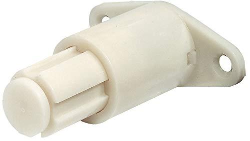Gedotec Druckschnäpper Schubkasten Federschnapper Möbel-Verschluss für Schubladen & Möbel-Türen | Schnäpper zum Schrauben | Kunststoff beige | 1 Stück - Automatik Drucköffner für Schrank-Türen