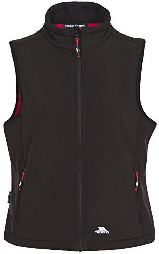 Trespass Norma - Chaleco cortavientos para mujer y adulto, para caminar, senderismo, senderismo, camping, al aire libre, Norma, Mujer, color negro, tamaño XS