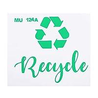 TOYMYTOY ごみリサイクルすることができラベル自己粘着ごみ廃棄物オーガナイザーリサイクルステッカーごみ分類記号ステッカーホームショップ
