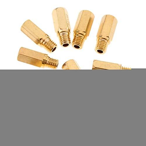 LIZANAN 10x Inyector Boquillas for PWK KOSO KEIHIN OKO Carb, Jets Principal 120 125 130 135 140 145 150 155 160 170 Soplete
