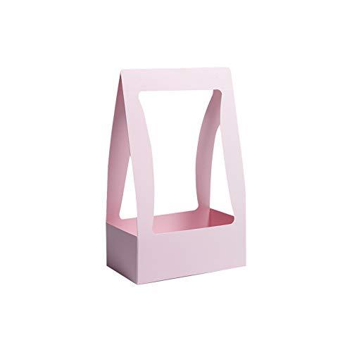 XQK - 10 cestini per fiori portatili di colore puro, per regali, per matrimoni, lauree, Natale