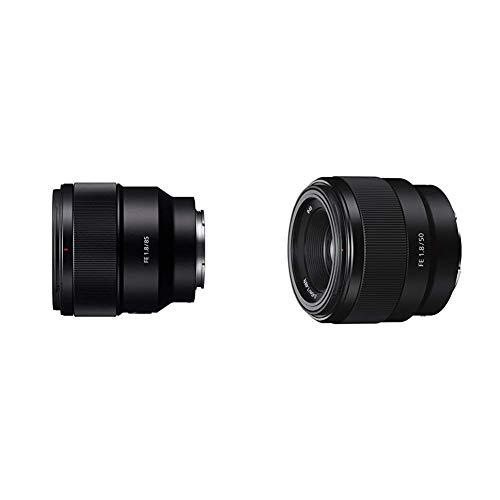 Sony SEL-85F18 Obiettivo, Nero + Sony SEL50F18F Obiettivo con Focale Fissa, 50mm F1.8, Full-Frame E-Mount, Nero