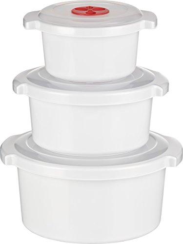 Kigima Mikrowellen - Kochtopf - Starter -Set 3-teilig 0,5, 1 und 2 Liter