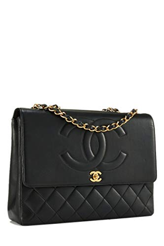 CHANEL Black Lambskin 'CC' Classic Flap Maxi (Pre-Owned)