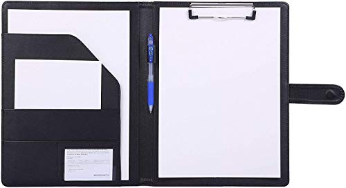 Padfolio Clipboard Folder Portfolio, Mymazn Faux Leather Storage...