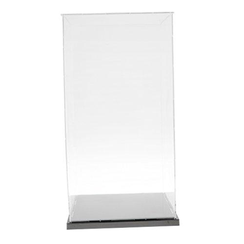 HomeDecTime Vitrina de Acrílico Transparente Caja de Metacrilato Autoensamblaje Figuras de Coches a Prueba de Polvo -  21x21x41cm