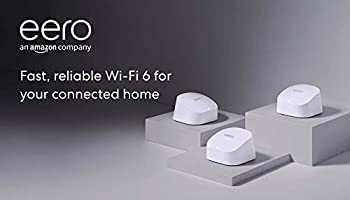 All-new Amazon eero 6 dual-band mesh Wi-Fi 6 system with built-in Zigbee smart home hub   3-pack (1 router + 2 extenders)