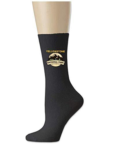 AdminQer Chaussettes de Sport en Coton pour Homme Yellowstone National Park, s