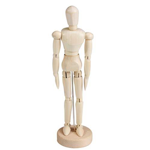Toyvian 2 pcs en Bois Figure modèle Humain Mannequin d'art Mannequin pour Artistes Croquis poupée en Bois Bureau Bureau décoration Enfants Jouets Cadeau
