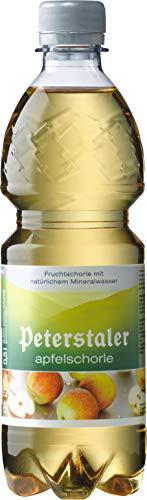 Peterstaler - Apfelschorle, Apfelsaft- Schorle 0,5 Liter PET Flasche (6 x 0,5 Liter)