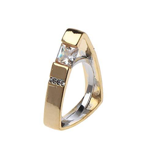 nanjing AAA Zirconi cubici intarsiati in oro colore triangolo inciso anello gioielli anello moda