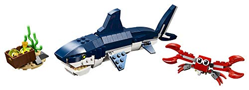 Product Image 2: LEGO Creator 3in1 Deep Sea Creatures 31088 Make a Shark, Squid, Angler Fish, and Crab with this Sea Animal Toy Building Kit (230 Pieces)