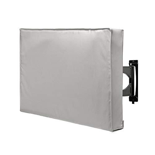 XQK Outdoor-TV-Abdeckung Universeller wetterfester Schutz für 40-42, 55-58-Zoll-TV-kompatibel mit Standardhalterungen und -halterungen (grau 55-58 Zoll)