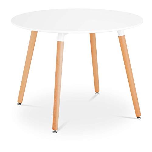 Fromm & Starck Star_Desk_16 Tisch rund Ø 100 cm weiß bis 100 kg Esstisch Bistrotisch Beistelltisch