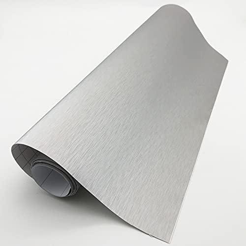 BIVJX Matte Same day shipping Sticker car Flexible Bru Car Styling Metallic Silver specialty shop