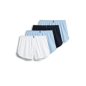 Jockey Men's Underwear Tapered Boxer – 4 Pack, icy blue, M