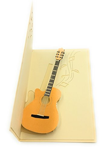 K&A ELECTRIC GUITAR 3D GREETING CARD - IDEAL FOR MUSICIANS ROCKSTARS AND MUSIC...