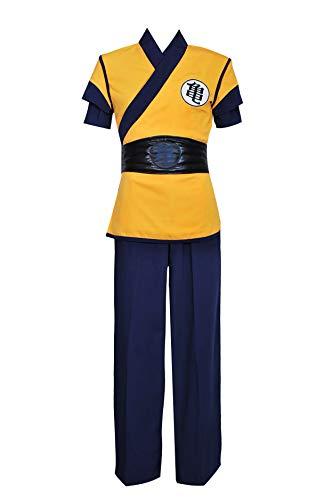 VINFA Dragon Ball Z DBZ Goku Cosplay Costume Yellow S