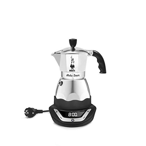 Bialetti Moka Timer, 3 Tazze, con Timer Incorporato