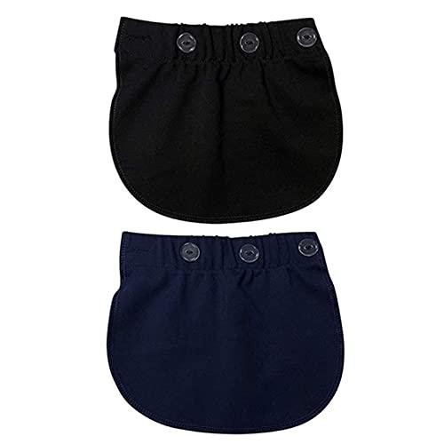 Xinlie Extension Cintura Prolunga Pantaloni Regolabili Estensore per Pantaloni Elastici Cinghie di maternità con Cintura Estensori Vita Pulsante Elastici per Le Donne in Gravidanza(2 Pezzi)