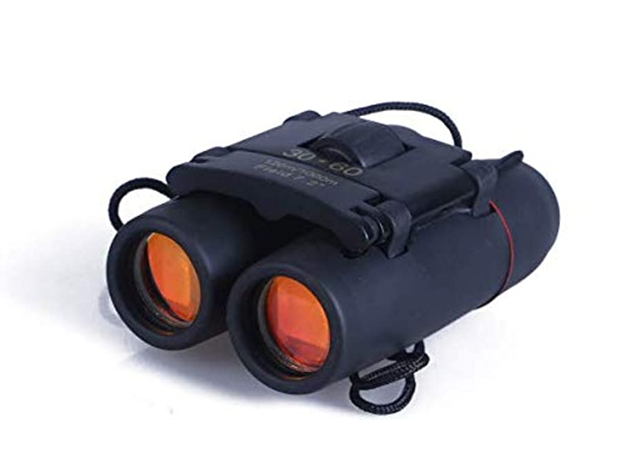 Aurora 30 x 60 Small Binoculars Compact for Adults Kids, Mini Binocular for Bird Watching Travelling Sightseeing, Lightweight Pocket Folding Binoculars for Concert Theater Opera, Portable Binoculars