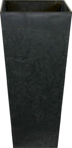 Artstone Pflanzgefäß Pflanzenkübel Ella, frostbeständig und leichtgewichtig, Schwarz, 19x35cm