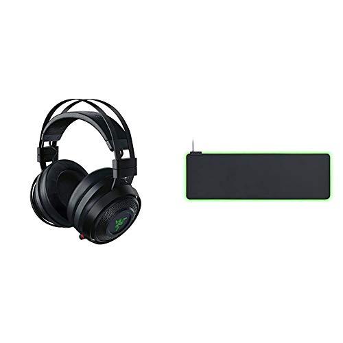Razer Nari Ultimate – Wireless Gaming Headset (Kabellose HyperSense Kopfhörer) & Goliathus Extended Chroma - Extra große weiche XXL Gaming Maus-Matte mit RGB Beleuchtung, Schwarz