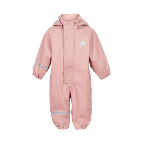 Celavi Baby-Mädchen Regenanzug einteilig in Vier Farben Regenjacke, Rosa (Misty Rose 524), (Herstellergröße:80)