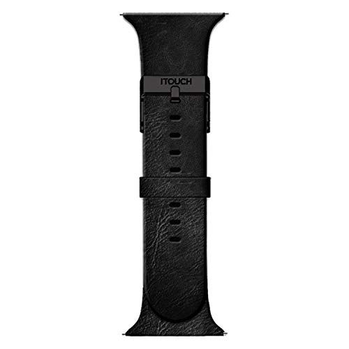 iTouch Air Special Edition Men's Leather Straps, Replacement Smartwatch Straps, Men's Leather Smartwatch Straps, Compatible ONLY with the iTouch Air SE (Black)