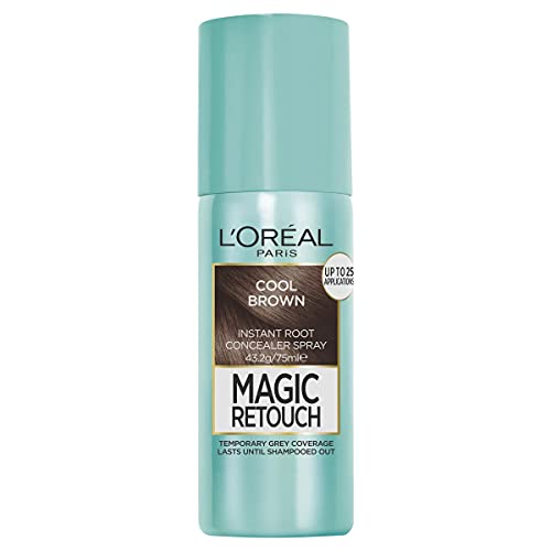 L'Oréal Paris Magic Retouch Temporary Root Concealer Spray - Cool Brown (Instant Grey Hair Coverage)