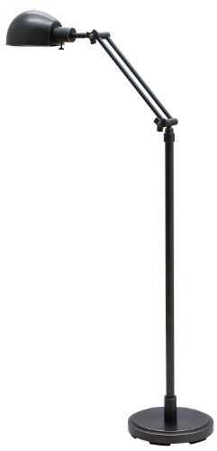 House of Troy AD400-OB Addison 1LT Adjustable Floor Lamp, Oil Rubbed Bronze Finish
