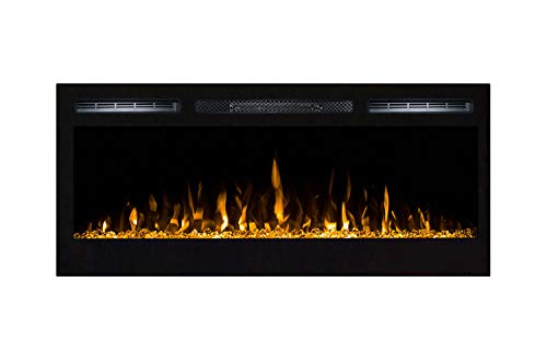 Moda Flame 35 Inch Cynergy Crystal Stone Built-In Wall Mounted Electric Fireplace