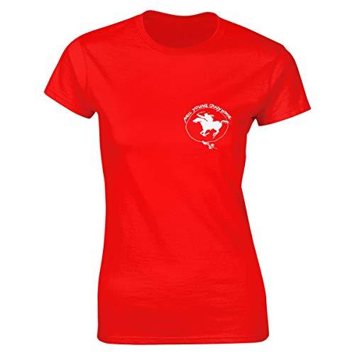 Womens Neil Young Crazy Horse Logo Clothes T Shirt Short Sleeve Red M Tee T Shirt CEW Neck Summer Tshirt for Women