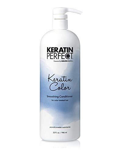 Keratin Perfect Color Smoothing Conditionner pour Cheveux Traité/Coloré 32 oz 946 ml 1 Unité