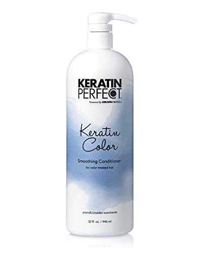 Keratin Perfect Color Smoothing Shampoo - For Color Treated Hair, Enhances Softness & Fights Frizz - Prolongs Keratin Treatment - No Added Sulfates or Sodium Chloride - 32 oz