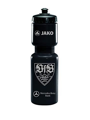 JAKO Unisex– Erwachsene VfB Stuttgart Trinkflasche, schwarz/Weiss, Standard