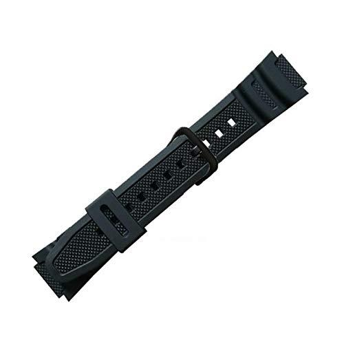 DSFSAEG Correa de reloj de goma de la PU de la correa del cuarzo de la liberación rápida para Casio AQ-S810W/W800H/AQ-S800