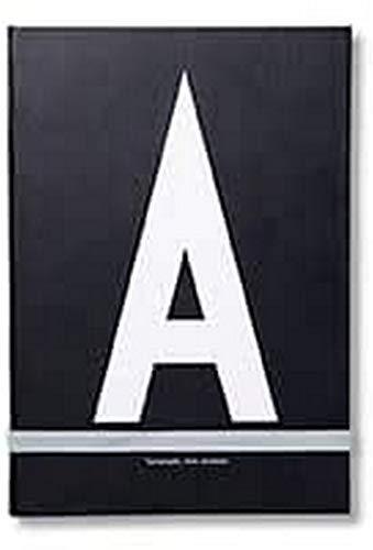 Design Letters Notizbuch mit Buchstabe A