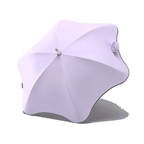 XXMK  Paraguas a prueba de viento  Paraguas - elegante paraguas con mango largo y paraguas en forma de flor se puede utilizar en Sunny y los días lluviosos Paraguas de viaje a prueba de viento lig