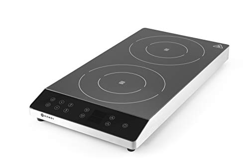 HENDI Cocina de inducción doble - 230V / 3500W - 300x580x(H)64 mm