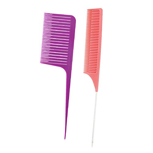 SDENSHI ABS Fine & Wide Tooth Section Weaving Highlight Foiling Hair Combs Brush Brosse